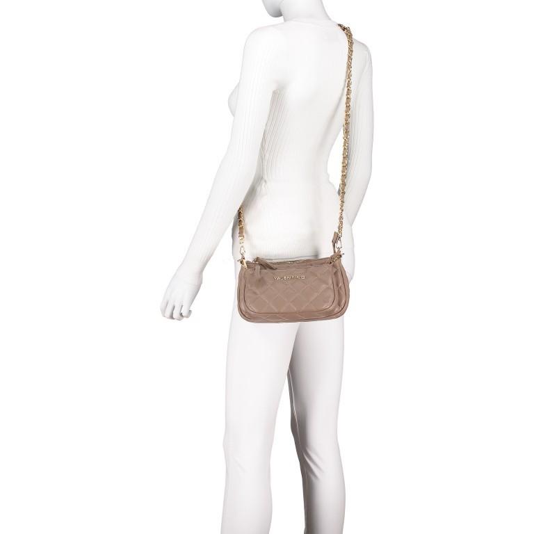 Umhängetasche Ocarina, Farbe: schwarz, taupe/khaki, beige, Marke: Valentino Bags, Abmessungen in cm: 24.5x14.5x5.0, Bild 5 von 13