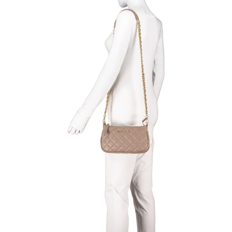 Umhängetasche Ocarina, Farbe: schwarz, taupe/khaki, beige, Marke: Valentino Bags, Abmessungen in cm: 24.5x14.5x5.0, Bild 6 von 13