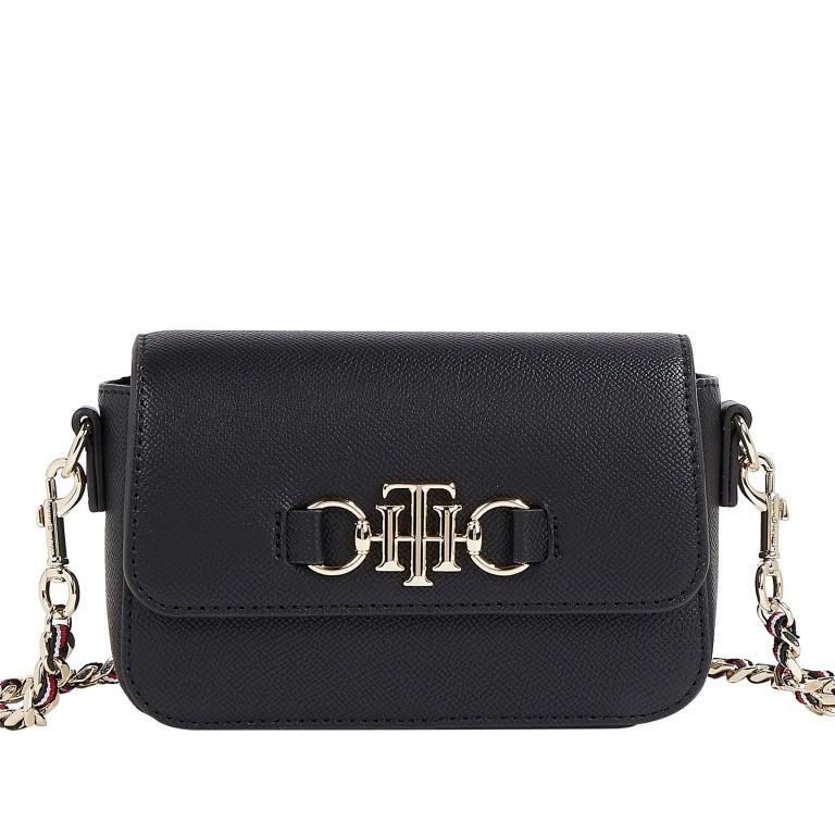 Umhängetasche Club Mini Crossover Bag, Farbe: schwarz, blau/petrol, Marke: Tommy Hilfiger, Abmessungen in cm: 17.0x11.5x4.5, Bild 1 von 2