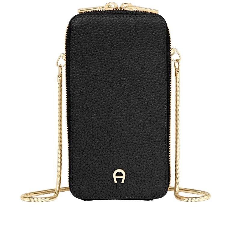 Handytasche Mobile Bag 163-139, Farbe: schwarz, grau, cognac, beige, Marke: AIGNER, Abmessungen in cm: 9.5x17.0x2.0, Bild 1 von 6