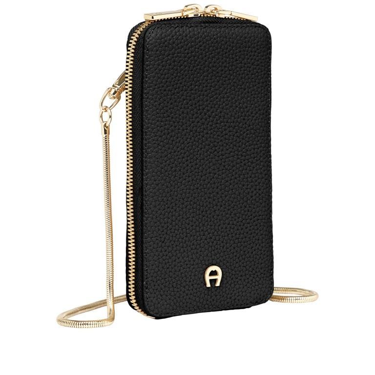 Handytasche Mobile Bag 163-139, Farbe: schwarz, grau, cognac, beige, Marke: AIGNER, Abmessungen in cm: 9.5x17.0x2.0, Bild 2 von 6