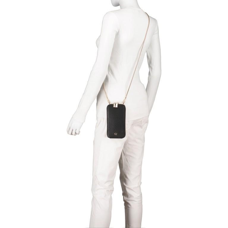Handytasche Mobile Bag 163-139, Farbe: schwarz, grau, cognac, beige, Marke: AIGNER, Abmessungen in cm: 9.5x17.0x2.0, Bild 5 von 6