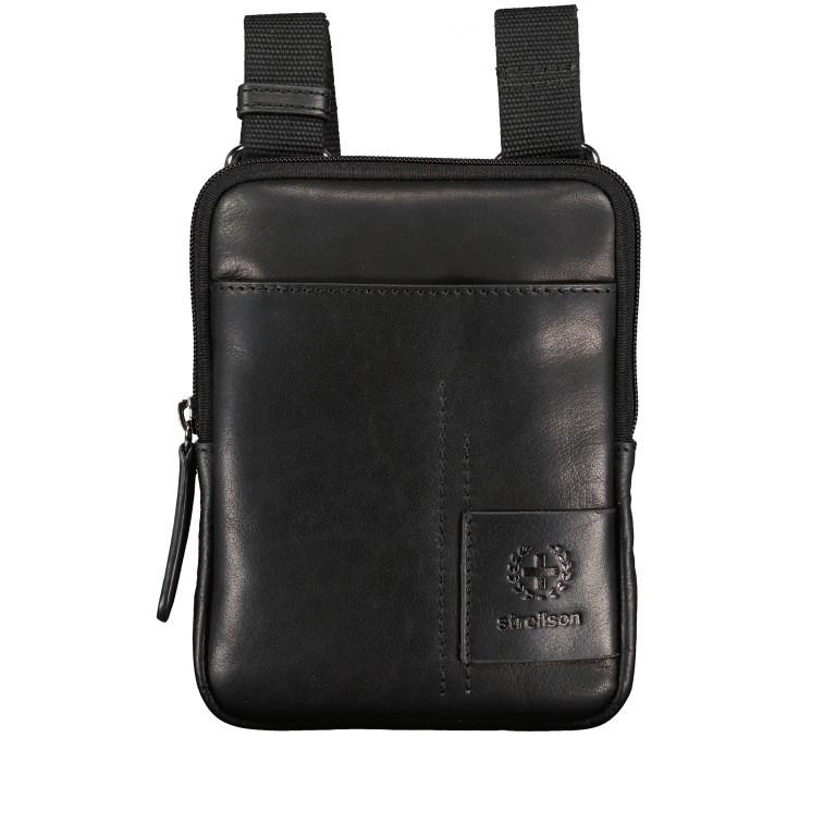 Umhängetasche Hyde Park Shoulderbag XSVZ1, Farbe: schwarz, cognac, Marke: Strellson, Abmessungen in cm: 13.0x18.0x2.0, Bild 1 von 7