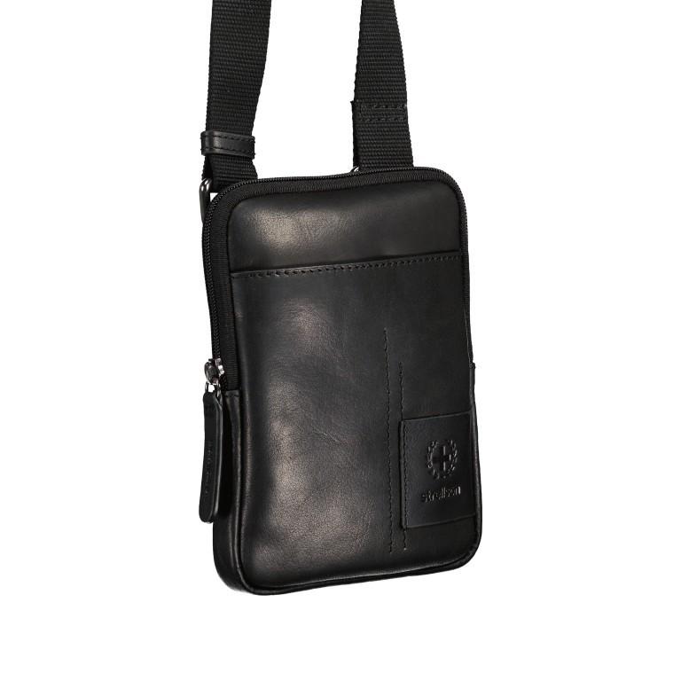 Umhängetasche Hyde Park Shoulderbag XSVZ1, Farbe: schwarz, cognac, Marke: Strellson, Abmessungen in cm: 13.0x18.0x2.0, Bild 2 von 7