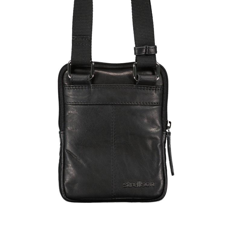 Umhängetasche Hyde Park Shoulderbag XSVZ1, Farbe: schwarz, cognac, Marke: Strellson, Abmessungen in cm: 13.0x18.0x2.0, Bild 3 von 7