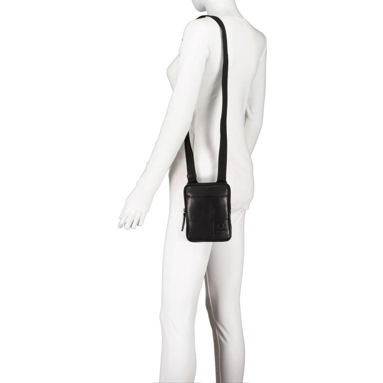 Umhängetasche Hyde Park Shoulderbag XSVZ1, Farbe: schwarz, cognac, Marke: Strellson, Abmessungen in cm: 13.0x18.0x2.0, Bild 4 von 7