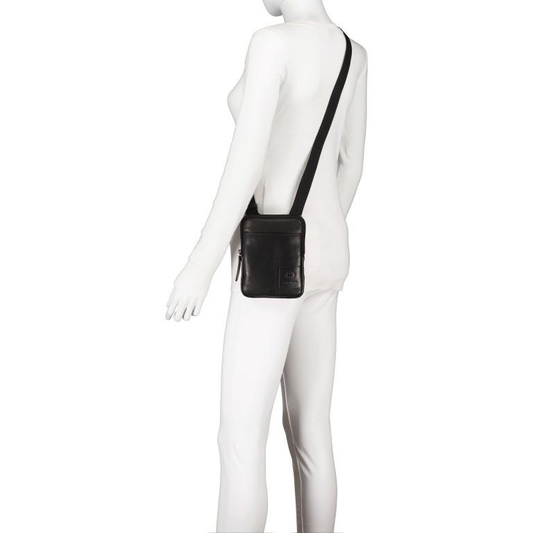 Umhängetasche Hyde Park Shoulderbag XSVZ1, Farbe: schwarz, cognac, Marke: Strellson, Abmessungen in cm: 13.0x18.0x2.0, Bild 5 von 7