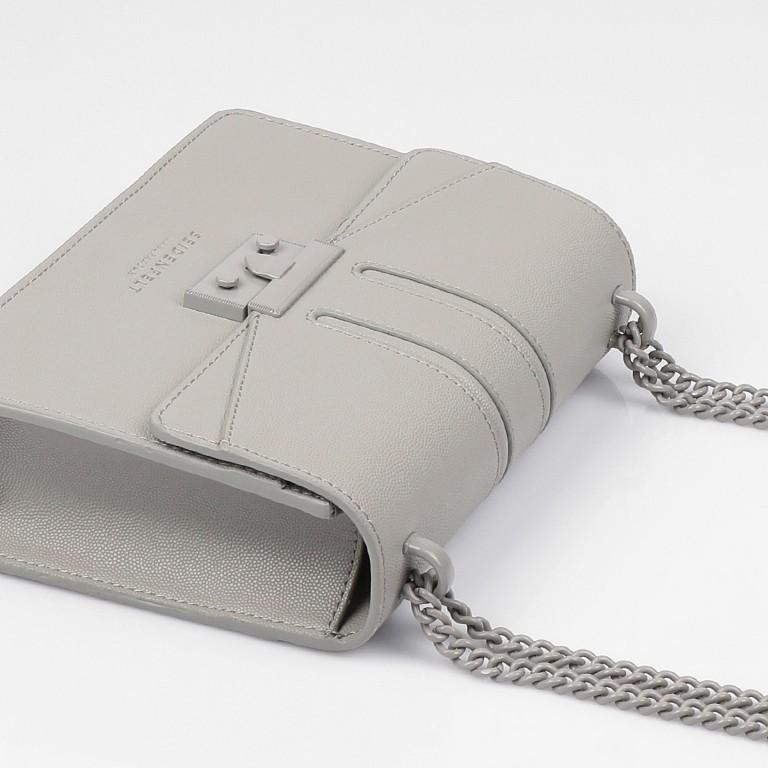 Umhängetasche Roros Colour, Farbe: grau, beige, Marke: Seidenfelt, Abmessungen in cm: 21.0x16.5x6.5, Bild 7 von 8
