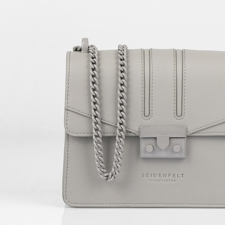 Umhängetasche Roros Colour, Farbe: grau, beige, Marke: Seidenfelt, Abmessungen in cm: 21.0x16.5x6.5, Bild 8 von 8