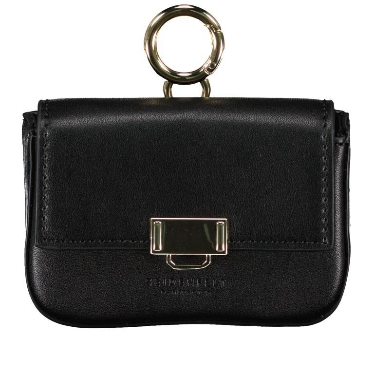 Umhängetasche Mini Lund, Farbe: schwarz, taupe/khaki, Marke: Seidenfelt, Abmessungen in cm: 12.0x9.0x3.0, Bild 1 von 7