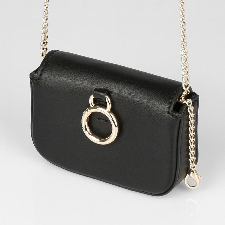 Umhängetasche Mini Lund, Farbe: schwarz, taupe/khaki, Marke: Seidenfelt, Abmessungen in cm: 12.0x9.0x3.0, Bild 3 von 7