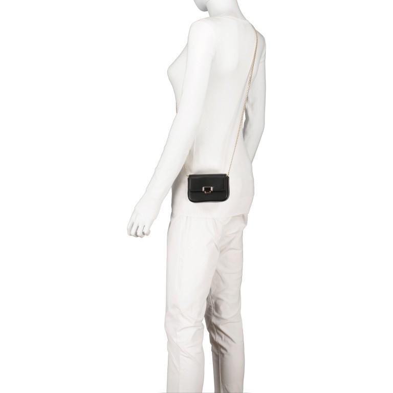 Umhängetasche Mini Lund, Farbe: schwarz, taupe/khaki, Marke: Seidenfelt, Abmessungen in cm: 12.0x9.0x3.0, Bild 5 von 7