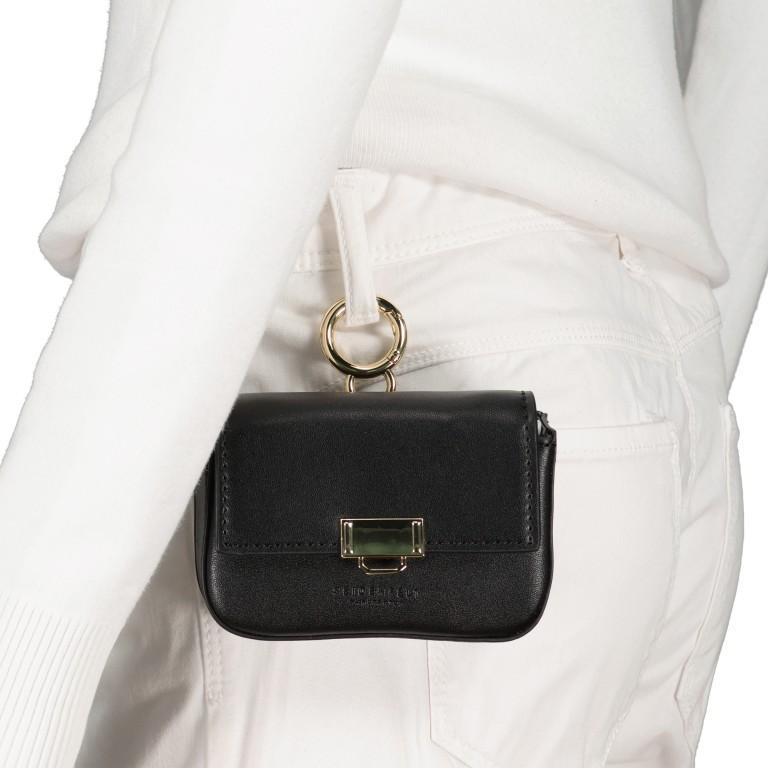 Umhängetasche Mini Lund, Farbe: schwarz, taupe/khaki, Marke: Seidenfelt, Abmessungen in cm: 12.0x9.0x3.0, Bild 6 von 7