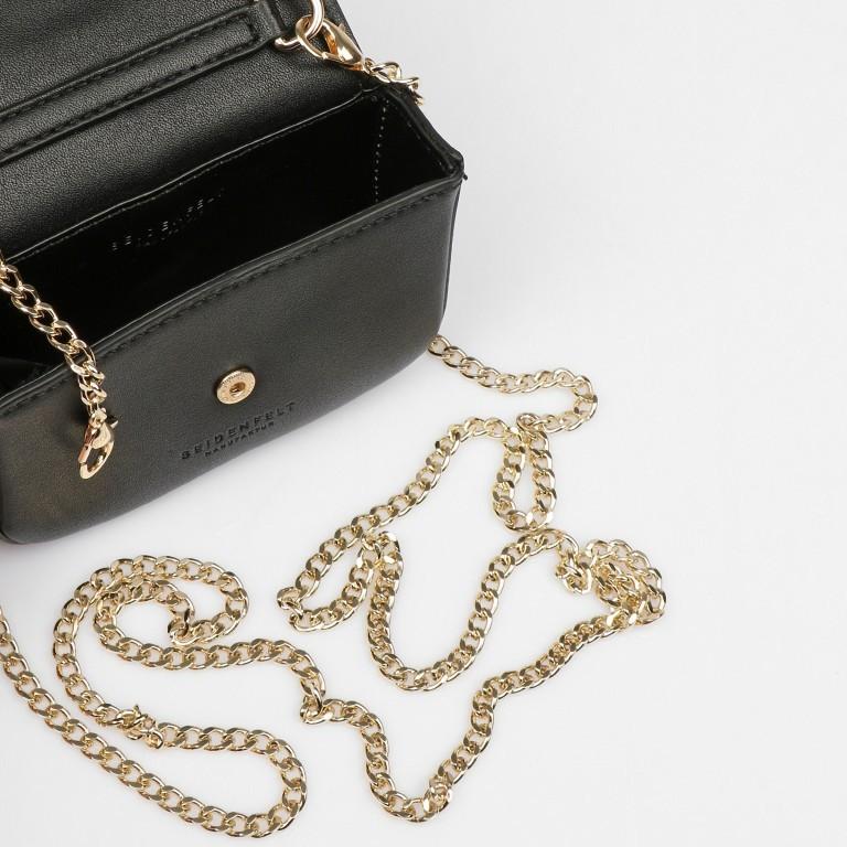 Umhängetasche Mini Lund, Farbe: schwarz, taupe/khaki, Marke: Seidenfelt, Abmessungen in cm: 12.0x9.0x3.0, Bild 7 von 7