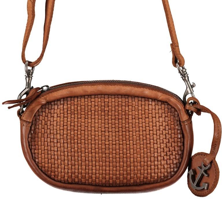 Umhängetasche / Gürteltasche Soft-Weaving Wendy SW.10499, Farbe: anthrazit, cognac, Marke: Harbour 2nd, Abmessungen in cm: 18.0x12.0x5.0, Bild 1 von 8