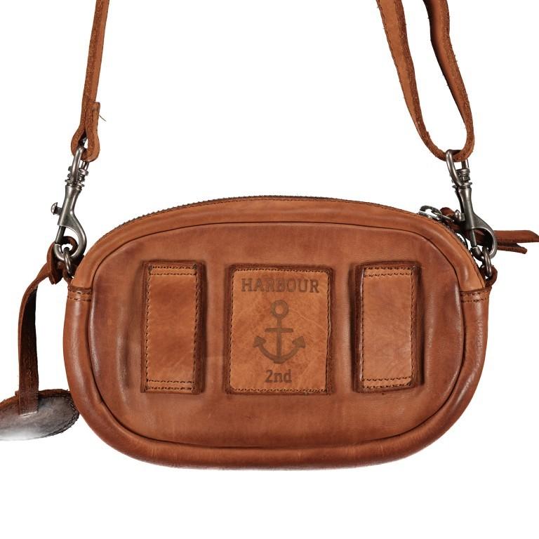Umhängetasche / Gürteltasche Soft-Weaving Wendy SW.10499, Farbe: anthrazit, cognac, Marke: Harbour 2nd, Abmessungen in cm: 18.0x12.0x5.0, Bild 3 von 8