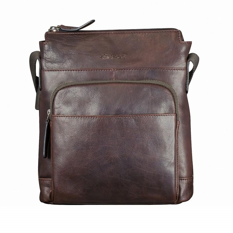 Umhängetasche Coleman Shoulderbag SVZ, Farbe: schwarz, braun, Marke: Strellson, Abmessungen in cm: 24.0x27x0x7.0, Bild 1 von 1