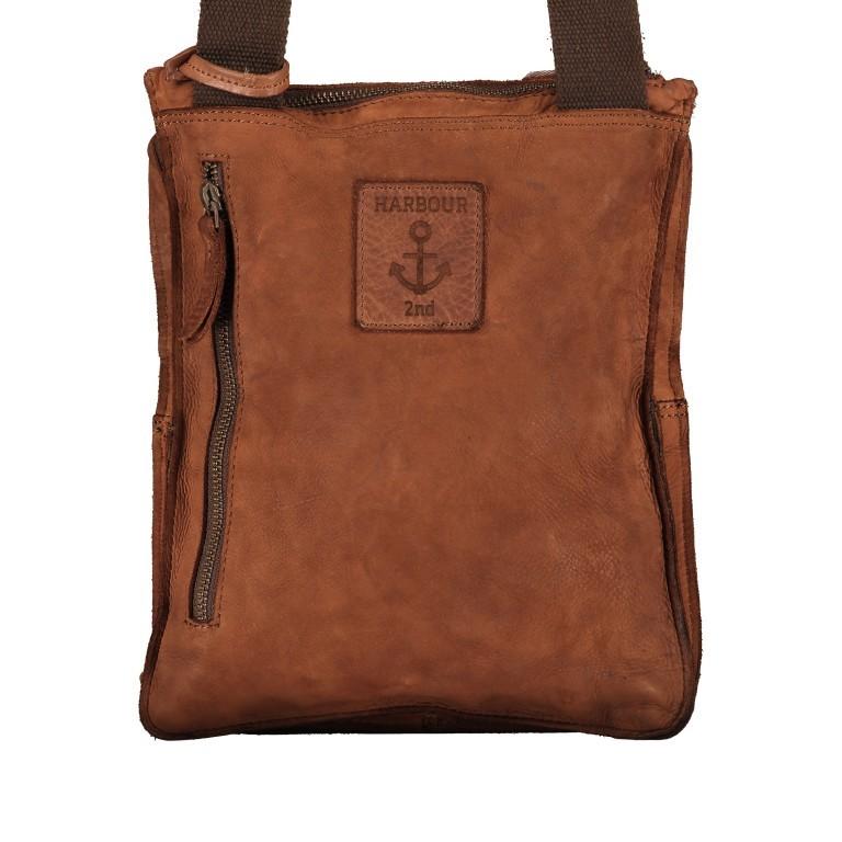 Umhängetasche Cool-Casual Finn B3.0172, Farbe: anthrazit, braun, cognac, Marke: Harbour 2nd, Abmessungen in cm: 23.5x29.0x6.5, Bild 3 von 8
