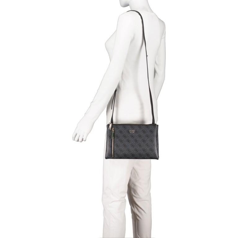 Umhängetasche Naja, Farbe: schwarz, braun, Marke: Guess, Abmessungen in cm: 26.0x17.0x4.0, Bild 4 von 7