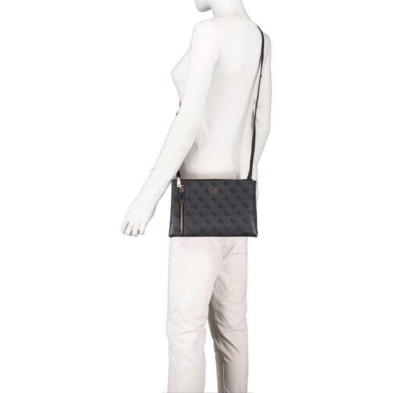 Umhängetasche Naja, Farbe: schwarz, braun, Marke: Guess, Abmessungen in cm: 26.0x17.0x4.0, Bild 5 von 7