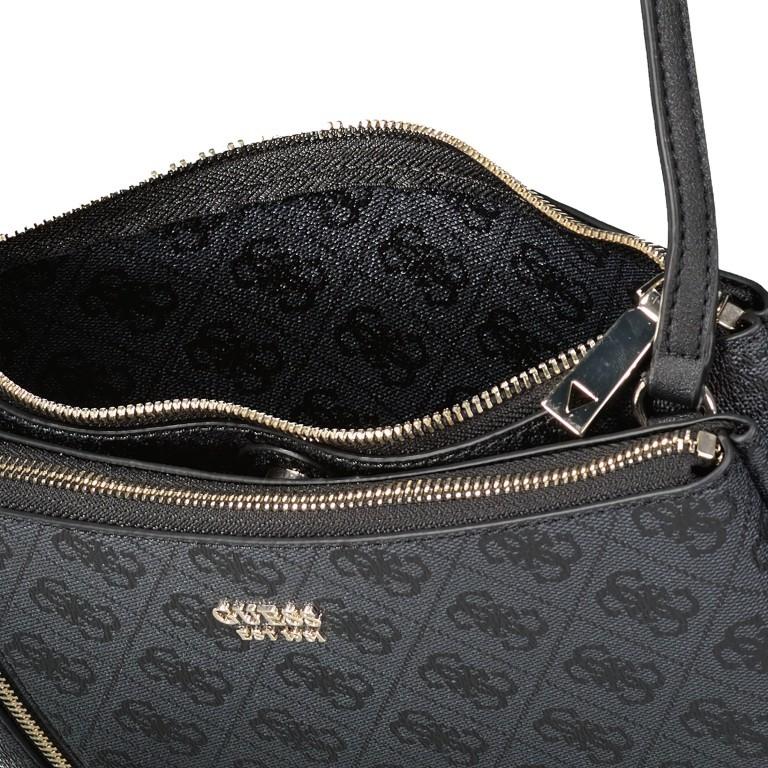Umhängetasche Naja, Farbe: schwarz, braun, Marke: Guess, Abmessungen in cm: 26.0x17.0x4.0, Bild 7 von 7
