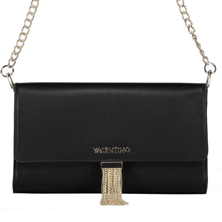 Umhängetasche Piccadilly, Farbe: schwarz, rosa/pink, weiß, metallic, Marke: Valentino Bags, Abmessungen in cm: 26.0x15.5x6.0, Bild 1 von 7