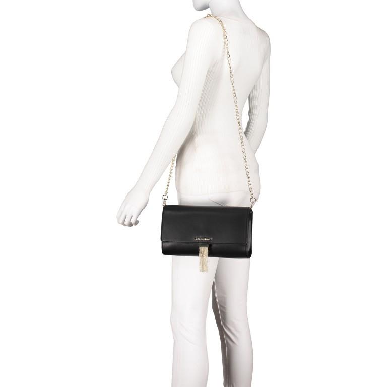 Umhängetasche Piccadilly, Farbe: schwarz, rosa/pink, weiß, metallic, Marke: Valentino Bags, Abmessungen in cm: 26.0x15.5x6.0, Bild 4 von 7