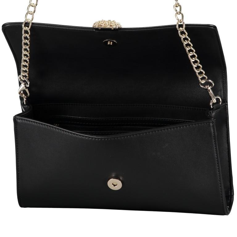 Umhängetasche Piccadilly, Farbe: schwarz, rosa/pink, weiß, metallic, Marke: Valentino Bags, Abmessungen in cm: 26.0x15.5x6.0, Bild 6 von 7