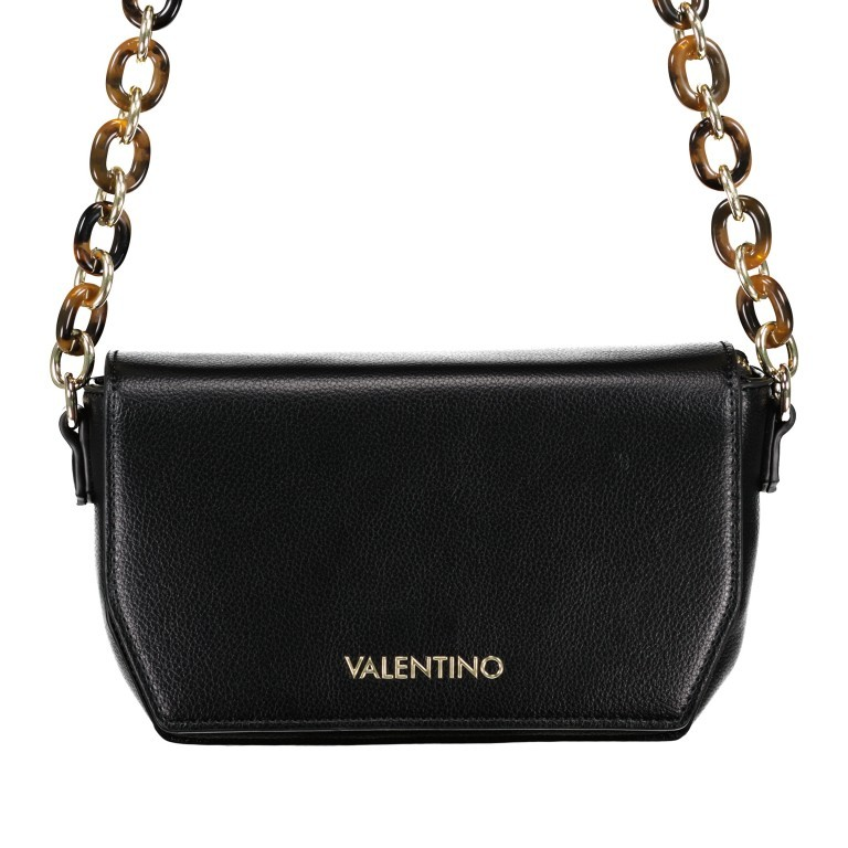 Umhängetasche Prue, Farbe: schwarz, rosa/pink, weiß, Marke: Valentino Bags, Abmessungen in cm: 22.5x14.0x6.0, Bild 1 von 5