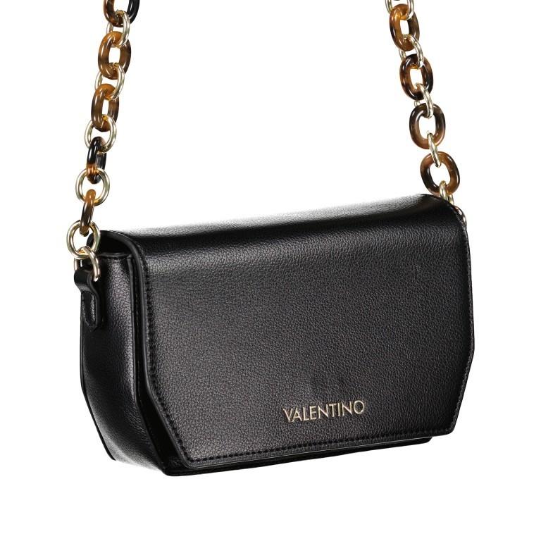 Umhängetasche Prue, Farbe: schwarz, rosa/pink, weiß, Marke: Valentino Bags, Abmessungen in cm: 22.5x14.0x6.0, Bild 2 von 5