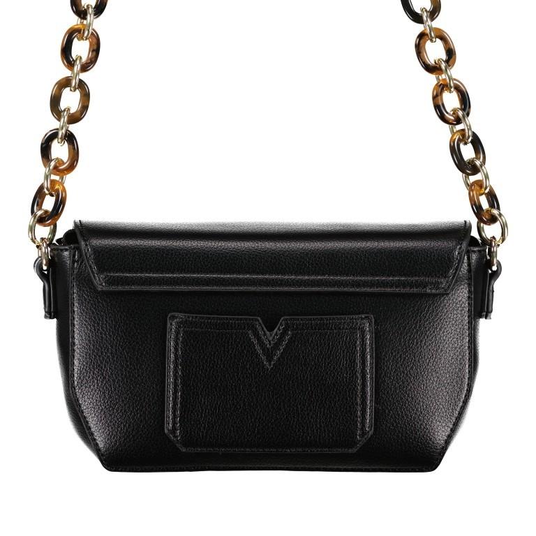 Umhängetasche Prue, Farbe: schwarz, rosa/pink, weiß, Marke: Valentino Bags, Abmessungen in cm: 22.5x14.0x6.0, Bild 3 von 5