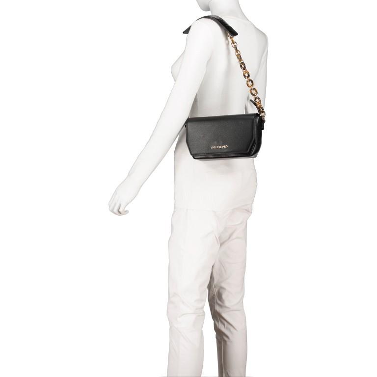 Umhängetasche Prue, Farbe: schwarz, rosa/pink, weiß, Marke: Valentino Bags, Abmessungen in cm: 22.5x14.0x6.0, Bild 4 von 5