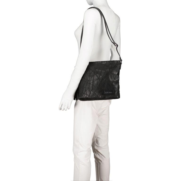 Umhängetasche Kimmy 12790, Farbe: schwarz, beige, Marke: Suri Frey, Abmessungen in cm: 27.0x26.0x6.0, Bild 4 von 7
