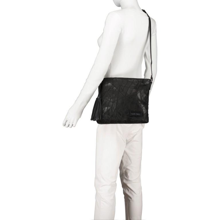 Umhängetasche Kimmy 12790, Farbe: schwarz, beige, Marke: Suri Frey, Abmessungen in cm: 27.0x26.0x6.0, Bild 5 von 7
