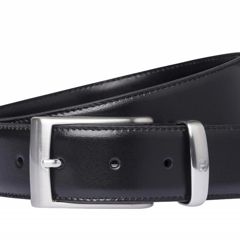 Gürtel Daily Basis 126-355 Bundweite 95 cm Black, Farbe: schwarz, Marke: AIGNER, EAN: 4048392398783, Abmessungen in cm: 110.0x3.5, Bild 2 von 2