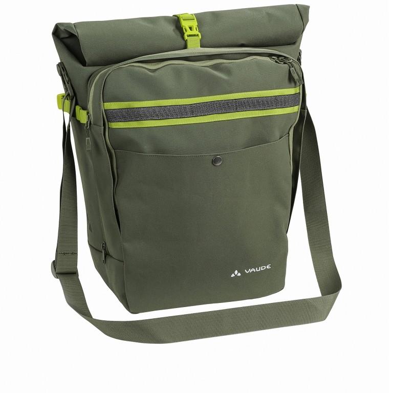 Fahrradtasche ExCycling Back, Farbe: schwarz, grün/oliv, Marke: Vaude, Abmessungen in cm: 37.0x48.0x26.0, Bild 1 von 1