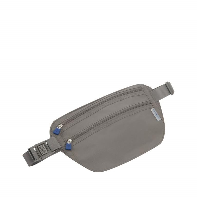 Geldgürtel Travel Accessories Double Pocket Money Belt mit RFID-Schutz Eclipse Grey, Farbe: anthrazit, Marke: Samsonite, EAN: 5414847954603, Abmessungen in cm: 28.0x14.0, Bild 1 von 1