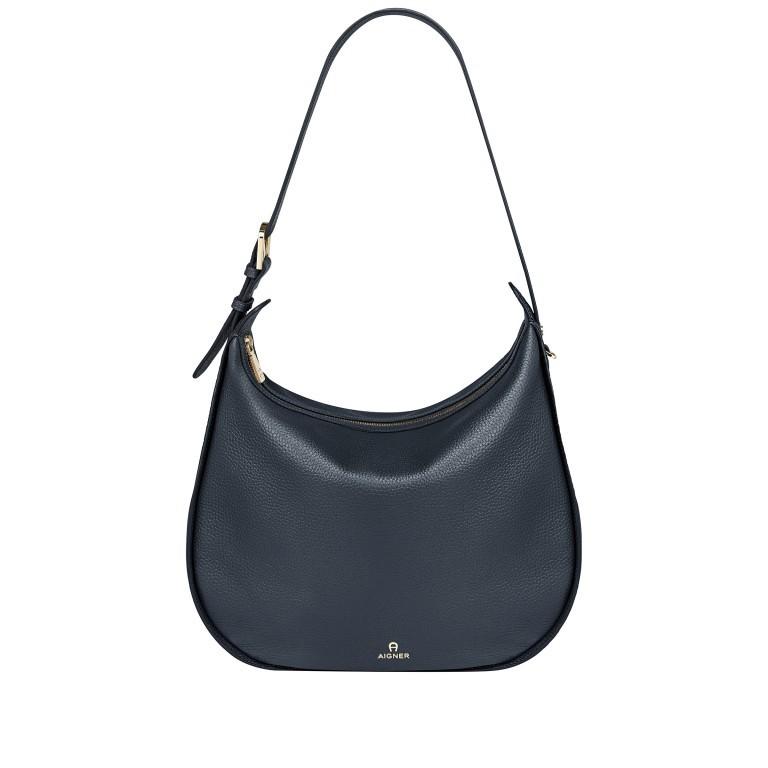 Beuteltasche Ivy M 136-759, Farbe: schwarz, blau/petrol, braun, cognac, beige, Marke: AIGNER, Abmessungen in cm: 36.0x35.0x10.0, Bild 1 von 7