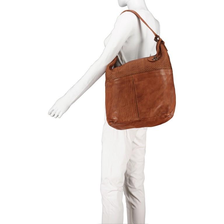 Beuteltasche Soft-Weaving Antonia SW.10501, Farbe: braun, cognac, Marke: Harbour 2nd, Abmessungen in cm: 41.0x36.5x14.0, Bild 4 von 9