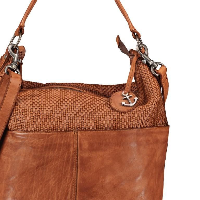 Beuteltasche Soft-Weaving Antonia SW.10501, Farbe: braun, cognac, Marke: Harbour 2nd, Abmessungen in cm: 41.0x36.5x14.0, Bild 8 von 9