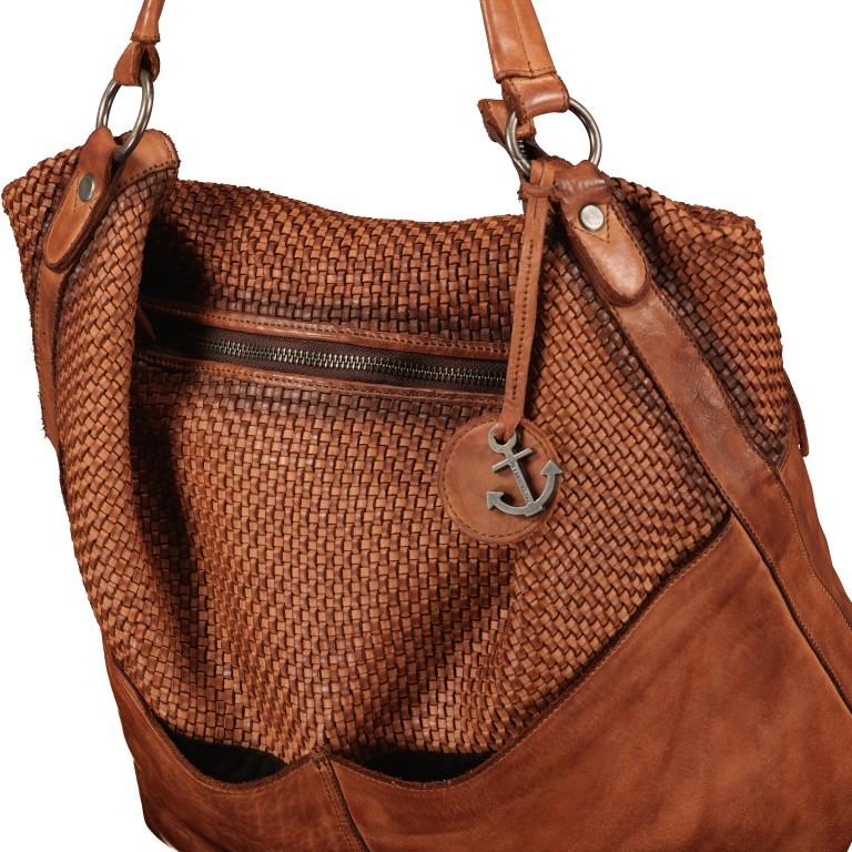 Beuteltasche Soft-Weaving Antonia SW.10501, Farbe: braun, cognac, Marke: Harbour 2nd, Abmessungen in cm: 41.0x36.5x14.0, Bild 9 von 9