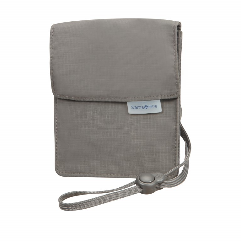Brustbeutel Packing Accessories Neck Pouch mit RFID-Schutz Eclipse Grey, Farbe: anthrazit, Marke: Samsonite, EAN: 5414847954627, Abmessungen in cm: 12.0x15.0, Bild 1 von 1