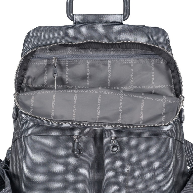 Rucksack MD20 QMTZ4, Farbe: schwarz, anthrazit, grau, blau/petrol, braun, taupe/khaki, grün/oliv, rot/weinrot, rosa/pink, gelb, beige, metallic, Marke: Mandarina Duck, Abmessungen in cm: 28.0x34.0x11.0, Bild 6 von 6