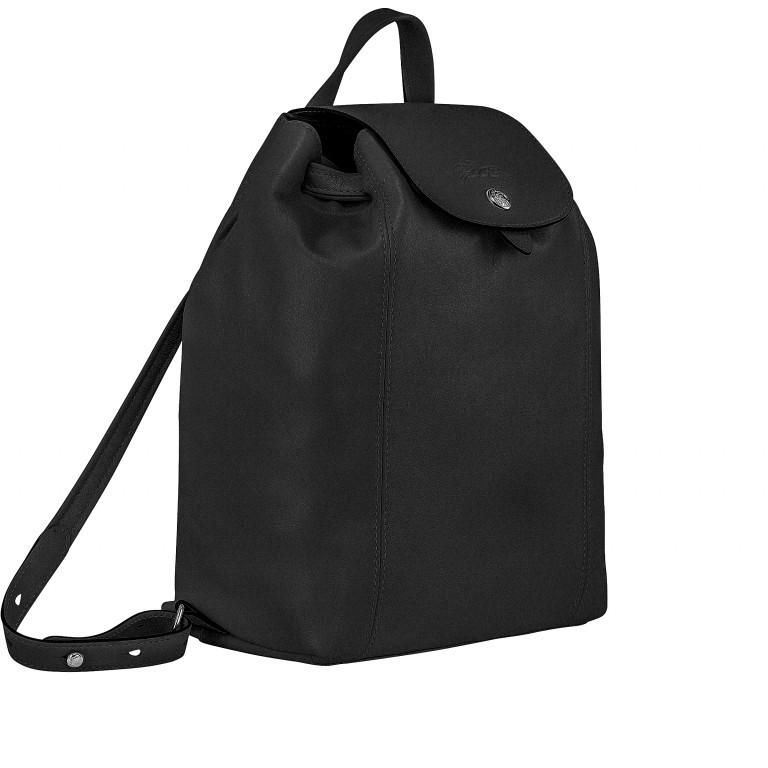 Rucksack Le Pliage Cuir Rucksack, Farbe: schwarz, blau/petrol, grün/oliv, rot/weinrot, orange, gelb, Marke: Longchamp, Abmessungen in cm: 22.0x28.0x11.0, Bild 2 von 4
