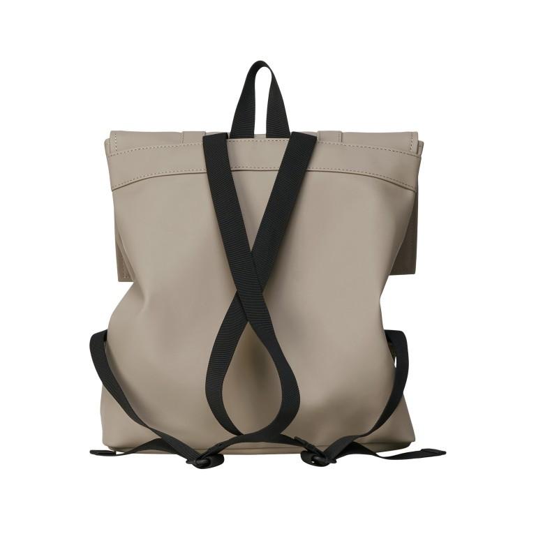 Rucksack MSN Mini, Farbe: schwarz, taupe/khaki, rosa/pink, beige, weiß, Marke: Rains, Abmessungen in cm: 30.5x34.5x12.0, Bild 2 von 5