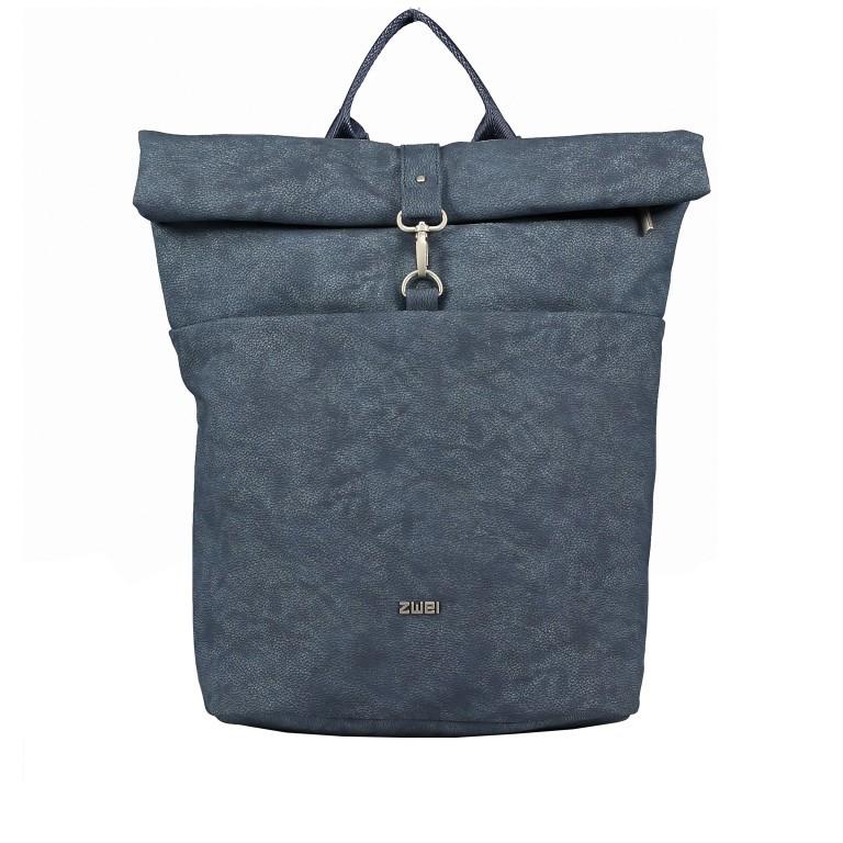 Rucksack Mademoiselle MR180, Farbe: grau, blau/petrol, cognac, Marke: Zwei, Bild 1 von 6