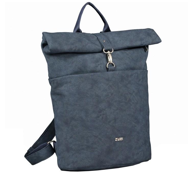 Rucksack Mademoiselle MR180, Farbe: grau, blau/petrol, cognac, Marke: Zwei, Bild 2 von 6