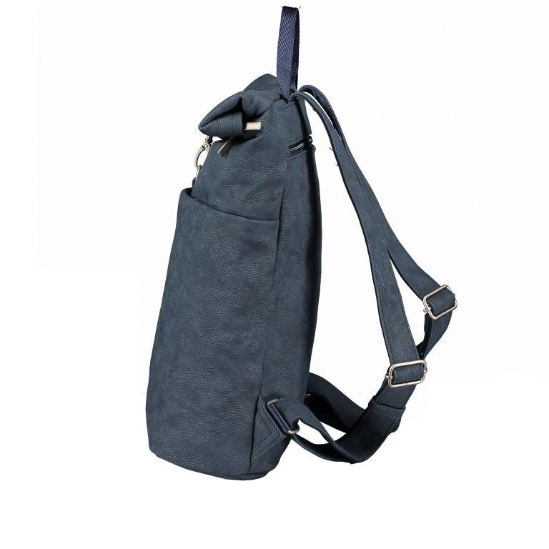 Rucksack Mademoiselle MR180, Farbe: grau, blau/petrol, cognac, Marke: Zwei, Bild 3 von 6