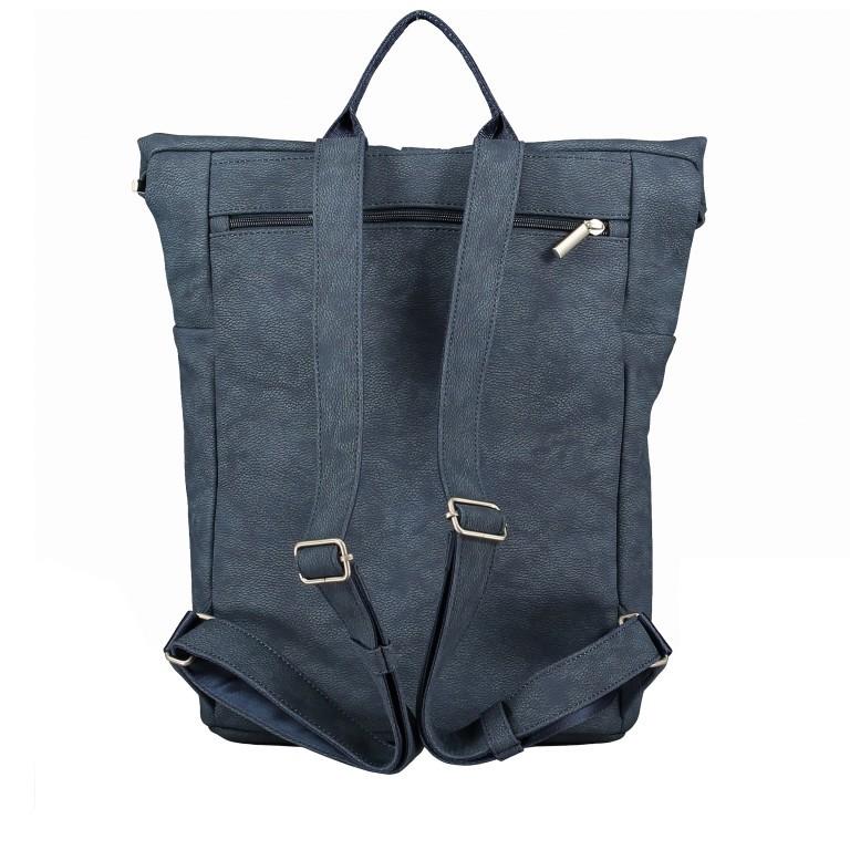 Rucksack Mademoiselle MR180, Farbe: grau, blau/petrol, cognac, Marke: Zwei, Bild 4 von 6