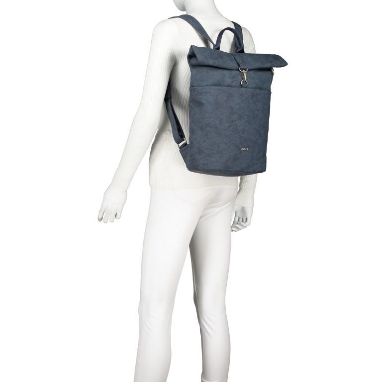Rucksack Mademoiselle MR180, Farbe: grau, blau/petrol, cognac, Marke: Zwei, Bild 5 von 6